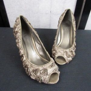 CL by Laundry Floral Design Heel Shoes- 7.5M